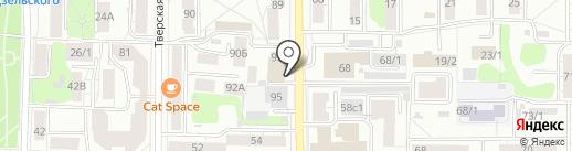 Динамика роста на карте Томска