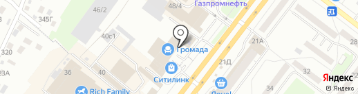 Игрушкино на карте Томска