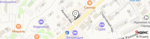 Теплый дом на карте Белокурихи