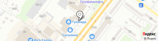 Ренес на карте Томска