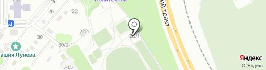 Политехник на карте Томска