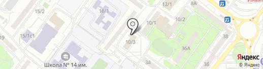 Федерация кикбоксинга Томской области на карте Томска