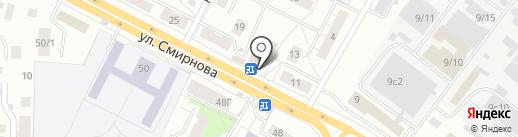 Огонек на карте Томска
