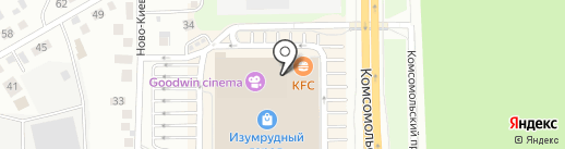 Вокифудтомск на карте Томска