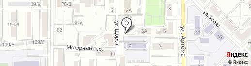 Авантаж на карте Томска