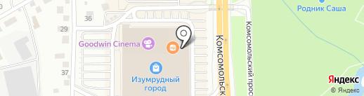 Киндервиль на карте Томска