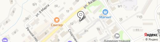 Город Белокуриха на карте Белокурихи