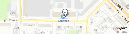 Юстир на карте Томска