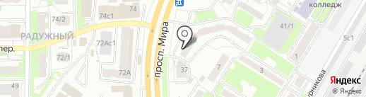 Юбилейное, ТСЖ на карте Томска