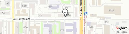 Хорошава на карте Томска