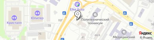 Софи на карте Томска
