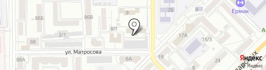 Юниор на карте Томска