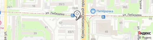 Сибнуклон на карте Томска