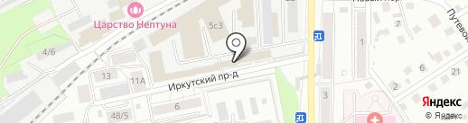 Полимерсервис на карте Томска