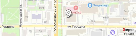 Много Мебели на карте Томска