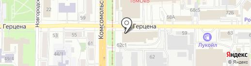 Ё на карте Томска