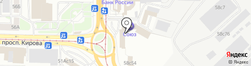 Горизонт на карте Томска