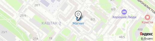 Клаймер на карте Томска