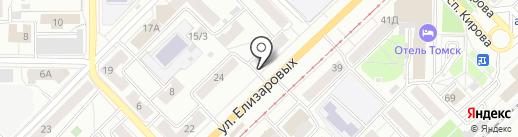 Мега на карте Томска