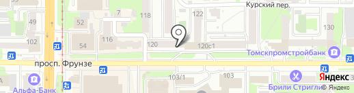Первый Томский, КПК на карте Томска