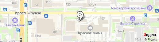 Агентство налоговой помощи Мост на карте Томска