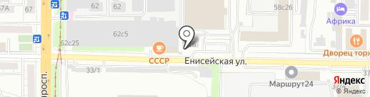 Дом здоровья на карте Томска