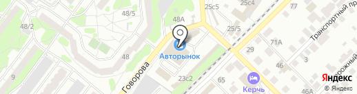 Пекарья на карте Томска