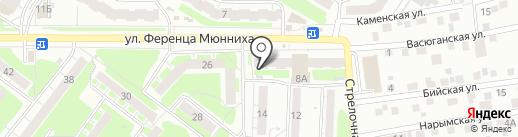Оливия на карте Томска