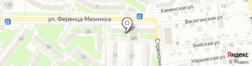 Мастер на карте Томска