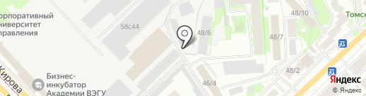 Карьер на карте Томска