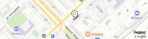 Пинта на карте Томска
