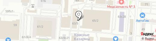 Стамиби на карте Томска