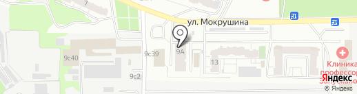 Антрацит на карте Томска