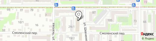 Строительный альянс на карте Томска