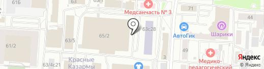 Банкомат, Россельхозбанк на карте Томска