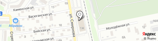 Гейзер на карте Томска