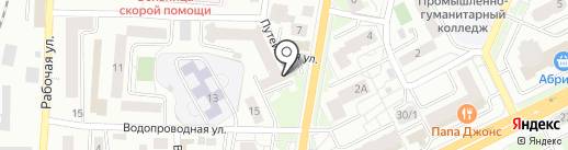 СЕВЕРСТТ на карте Томска
