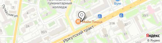 Гарант на карте Томска