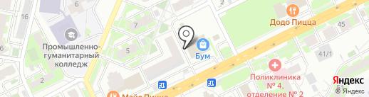 Планда на карте Томска