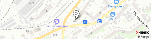 Винная лавка на карте Томска