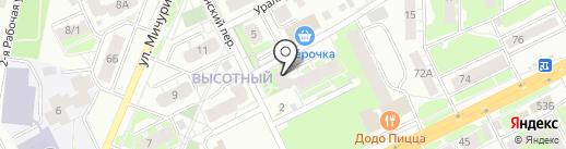 Пивная скважина на карте Томска