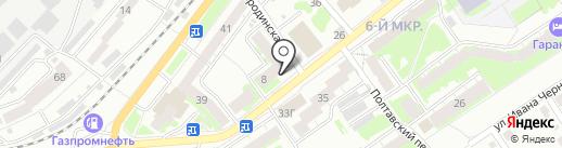 Медея на карте Томска