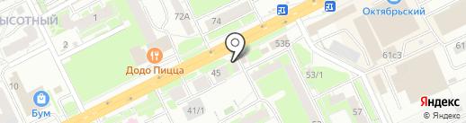 Подкова на карте Томска