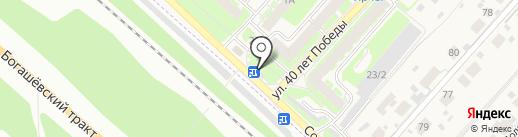 Магазин автотоваров на карте Зональной станции