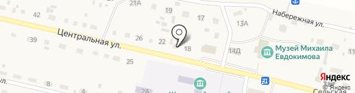 Магазин продуктов на карте Верха-Обского