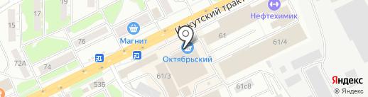 Император на карте Томска