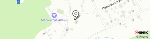 Трамплин на карте Томска