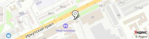 Томский кирпичный завод на карте Томска