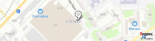 Магазин белорусского трикотажа на карте Томска
