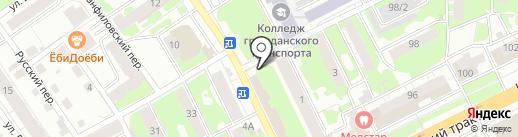 Горячий хлеб на карте Томска